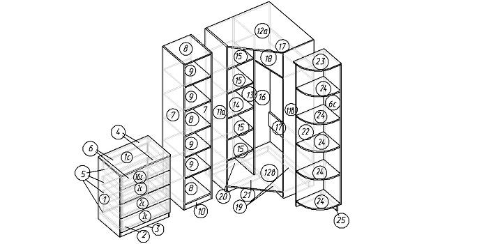 Расчет деталировки мебели