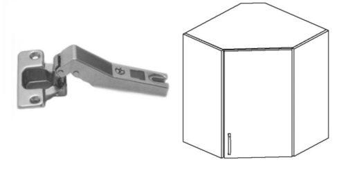 угловая мебельная петля
