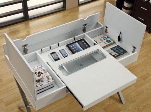 идеальный рабочий стол с откидными столешницами
