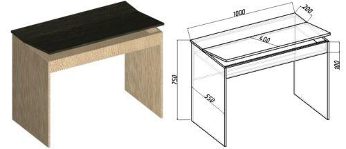 чертежи как сделать небольшой рабочий стол своими руками