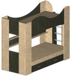 Детская двухъярусная кровать из ЛДСП своими руками: фото, чертежи, расчет размеров и раскрой