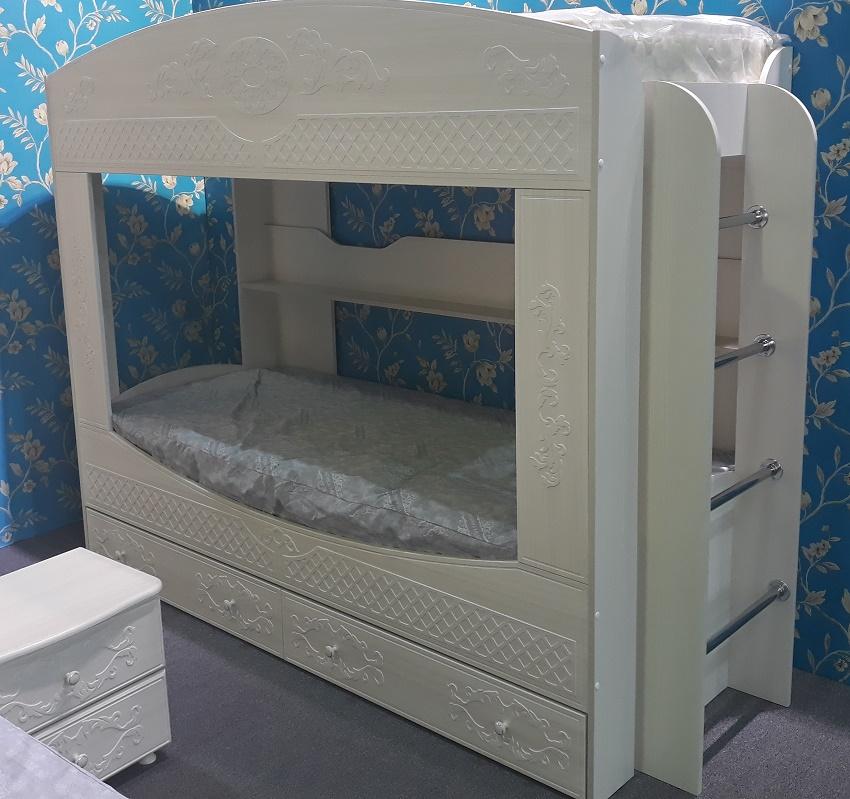 фото детской двухъярусной кровати из ДСП и МДФ