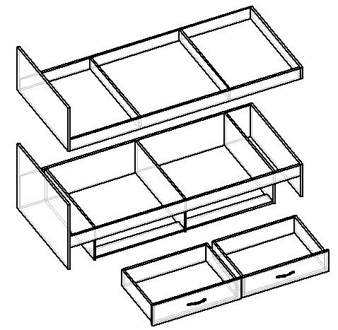 как сделать чертеж двухъярусной кровати своими руками