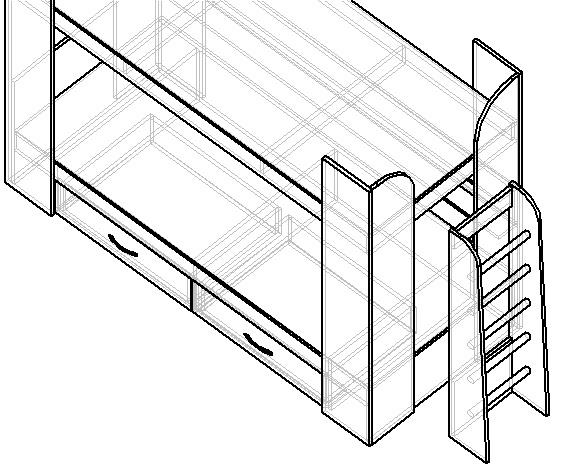 как сделать проект двухъярусной кровати своими руками