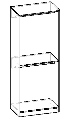 чертеж внутреннего наполнения шкафа для одежды своими руками