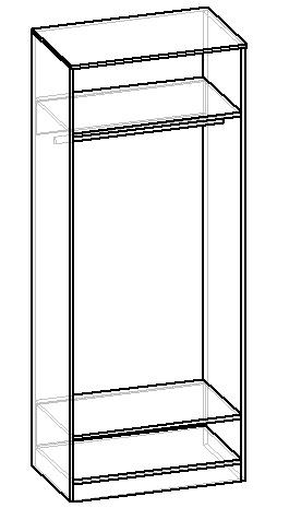 чертеж шкафа для одежды своими руками