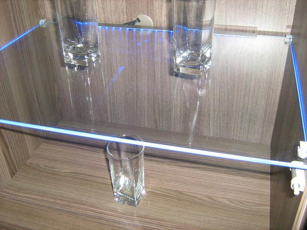 подсветка для стеклянных полок светодиодная мебели